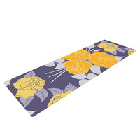 "Anneline Sophia ""Summer Rose Yellow"" Purple Lavender Yoga Mat"