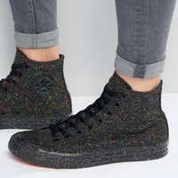Converse Chuck Taylor All Star Pride Pack Hi-Top Plimsolls In Black 153078C