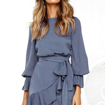 Secret Lover Dress BLUE GREY