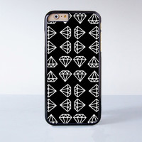 White Diamond Collection  Plastic Case Cover for Apple iPhone 4 4s 5 5s 5c 6 6s Plus