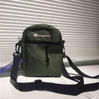 Champion New fashion net shoulder bag women and men reflective shoulder bag Army green