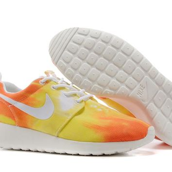 Nike Roshe Run Sport Casual Shoes Sneakers Yellow Size 36-44