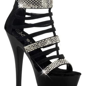 Platform Strappy Ankle Boots 6 Inch Heels-Stripper Boots