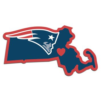 New England Patriots Home State Pride Vinyl Decal