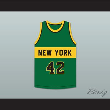 Lonnie Shelton 42 New York Basketball Jersey The Fish That Saved Pittsburgh