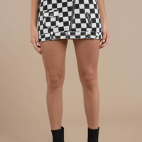 Rock Steady Checkered Skirt