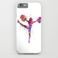 young woman cheerleader 04 iPhone & iPod Case by Paulrommer