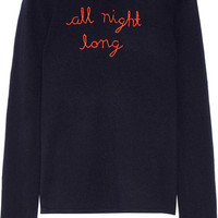 Lingua Franca - All Night Long embroidered cashmere sweater