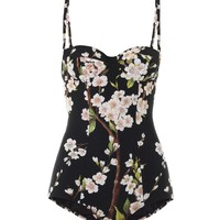 Almond blossom 50s cut swimsuit