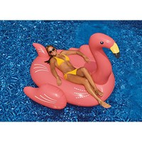 Flamingo Inflatable Floatie - Large Ride On Blow Up Pool Toy Swimming Summer Fun Games - Pink