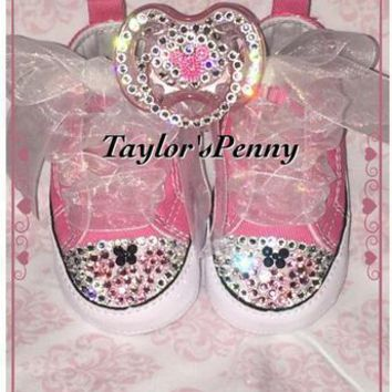 Baby First Star Bling Converse Minnie Mouse