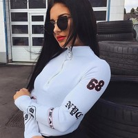 Sporty Racer Turtleneck Bodysuit