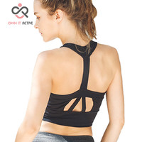 Women Yoga Bra Sports Bra Running Gym Fitness Athletic movimiento Bras Padded Push Up Tank Tops sujetador de los deportes