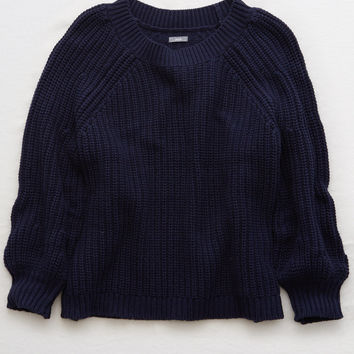 Aerie Pullover Sweater, Navy