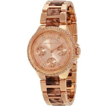 Michael Kors Rose Gold-Tone Mini Camille Watch
