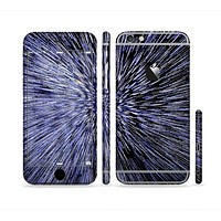 The Purple Zooming Lights Sectioned Skin Series for the Apple iPhone 6 Plus