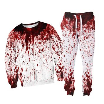 Blood Splatter Combo Sweater + Joggers