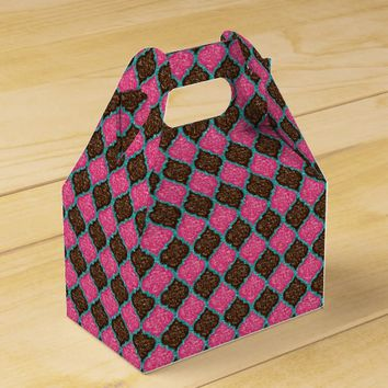 MQF-Sequins-Pink-Chocolate-Aqua-Gable Favor Boxes
