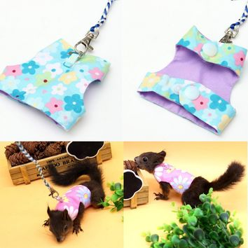 Adjustable Rabbit Squirrel Harness Leash Lead Small Hamster Pet Animal Suit Vest