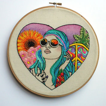 Embroidery Hoop Art Embroidered Quote On From Shinyfabulousdarli