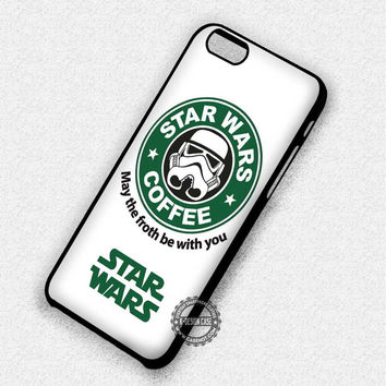 Funny Parody Star Wars Stormtrooper Starbucks - iPhone 7 6 5 SE Cases & Covers