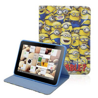 Sunworld DESPICABLE ME MINION cute CARTOON stand leather case COVER FOR IPAD 2 3 4