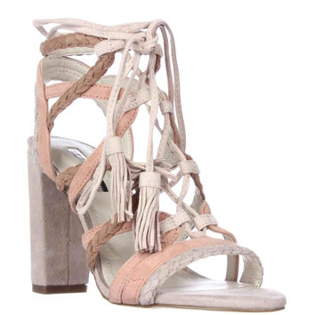 BCBGeneration Ronny Strappy Lace Up Sandals - Misty Haze/Dahlia