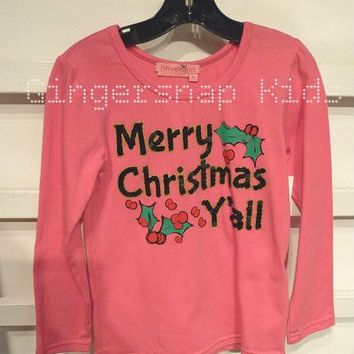 Haven Girl Merry Christmas Y'all Womens Tee (sz womens XS & S last 2)
