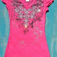 Rodeo Cross Burn-Out Shirt | Elusive Cowgirl - Western Wear, Cowgirl Clothing, Cowgirl Sunglasses