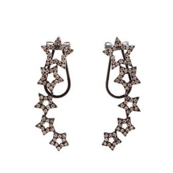 ROSA DE LA CRUZ | 18K Gold and Diamond Earrings | brownsfashion.com | The Finest Edit of Luxury Fashion | Clothes, Shoes, Bags and Accessories for Men & Women