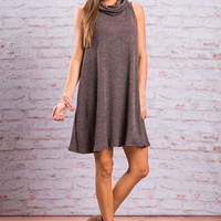 Stay With You Dress, Mauve-Black