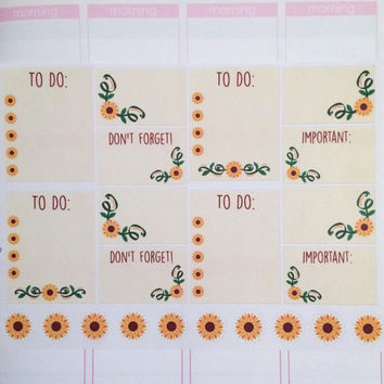 Sunflower Assorted Pack Planner Stickers