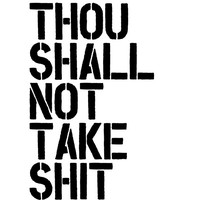 """Digital Download Typographic Print Wall Art """"Thou Shall Not.."""" Instant Download Printable Art Printable Wisdom Word Art"""