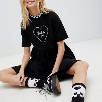 Vans X Lazy Oaf Bad For You Dress at asos.com