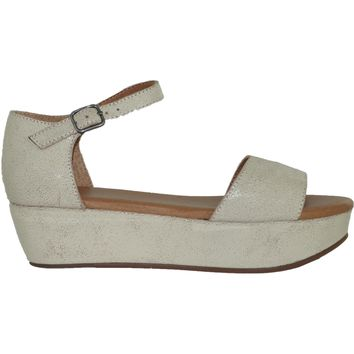 Daisy Platform Sandals - White
