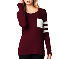 Burgundy Pocket Top