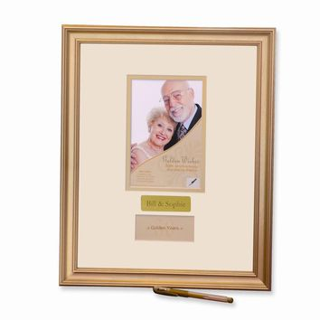 50th Anniversary Signature Photo Frame - Engravable Personalized Gift Item