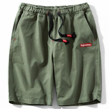 SUPREME Men's Casual Pants Trendy Fashion Mens Shorts F0279-1 Green