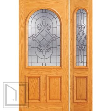 Prehung Mahogany Radius Li Entry One Sidelight Door