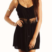 lace-cami-dress BLACK IVORY MINT - GoJane.com