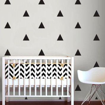 Triangle Wall Sticker Home Decor Baby Nursery Wall Decals for Kids Room Modern Triangle Children Stickers Vinyl Wall Art P8