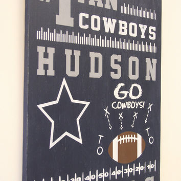 Boys Nursery Wood Sign Cowboys Nursery Football Nursery Sports Themed Nursery Baby Shower Gift Above Crib Decor Navy Nursery