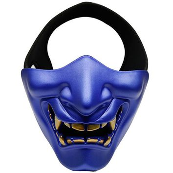 Hot Sale Military Tactical Airsoft Cool Half-Face Mask Paintball Mask Halloween Mask Attractive Masquerade Party Face Cover Prop
