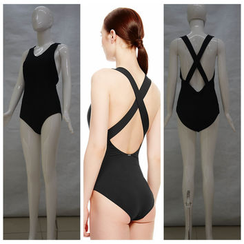 Sleeveless Crossback Swimsuit