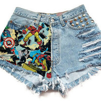 The Marvel High-Waisted Shorts