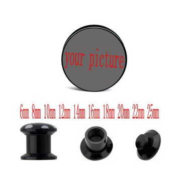 acrylic custom ear plugs tunnels piercing body jewelry ear expander gauges sell by pair 6-30mm