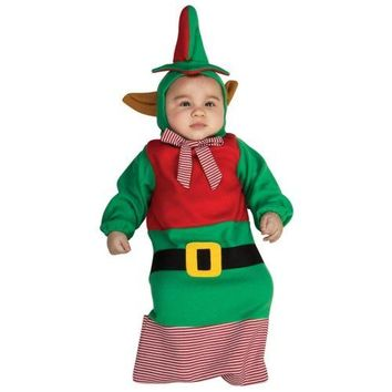 Elf Bunting Baby Costume Santa's Little Helper Christmas Holiday Fancy Dress