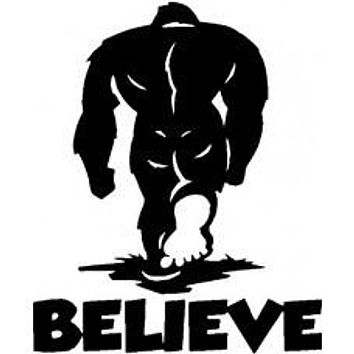 Bealieve Bigfoot Yeti Decal Car Truck 4x4 Sasquatch Jeep Sticker Vinyl Jeep Off Road