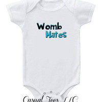 Womb Mates Great for Twins Funny Onesuit Bodysuit for the Baby