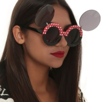Disney Minnie Mouse Round Flip Sunglasses